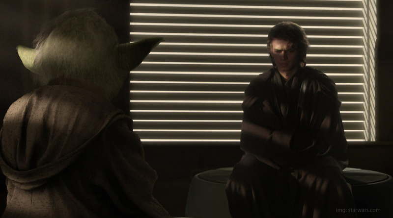 Anakin and Yoda in Attack of the Clones