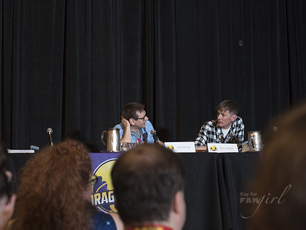 Brian Herring and Dave Chapman, the puppeteers of BB-8 at Dragon Con 2019.