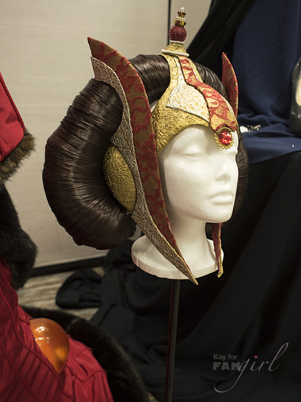 Queen Amidala Headdress from Dragon Con Costuming Exhibit