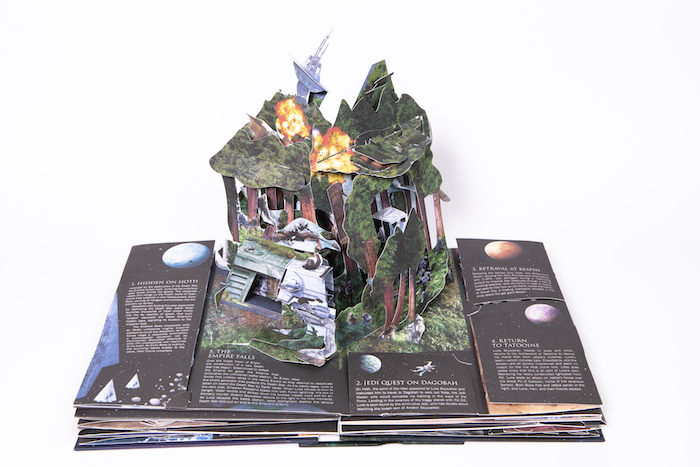 Star Wars Ultimate Pop Up Galaxy opened to the Endor spread