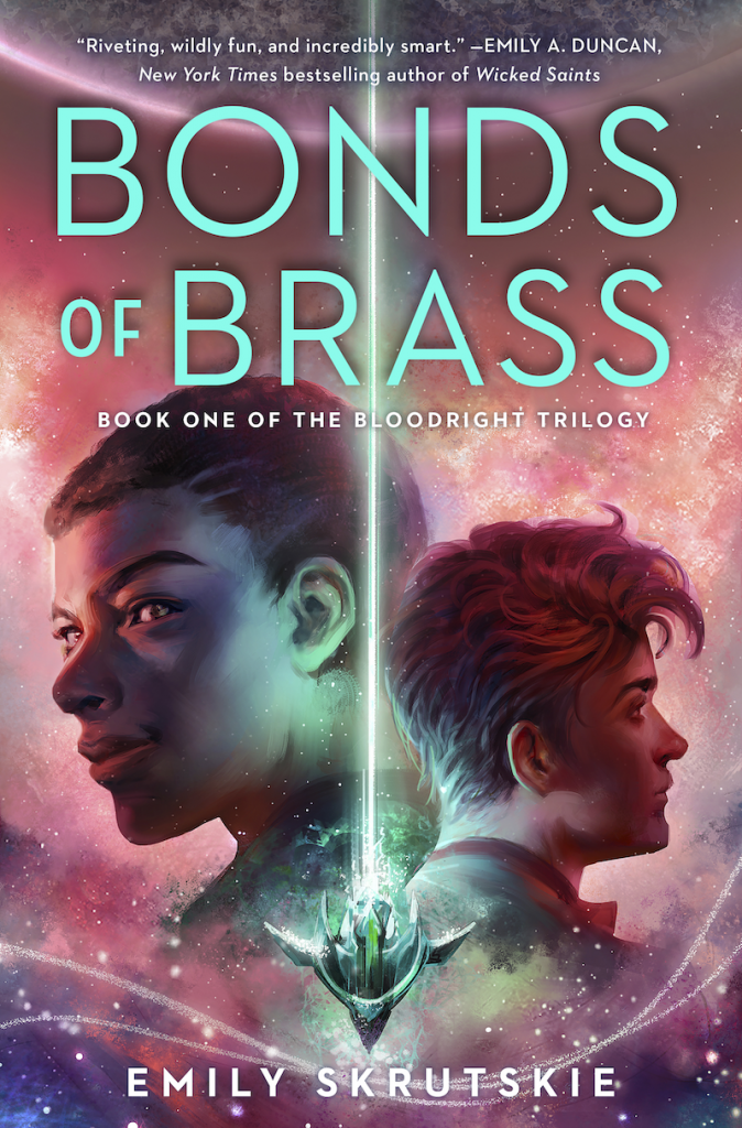 Bonds of Brass Book Cover featuring the two main characters