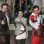 Han Solo, Rey, and Poe Dameron at C2E2