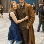 10th Doctor and Light-Up TARDIS at C2E2