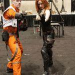 Mara Jade and a X-wing pilot at C2E2