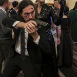 John Wick and Trinity from the Matrix
