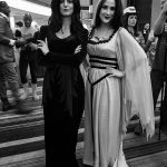 Morticia Addams and Lilly Munster
