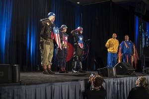 Captain America Group at Wizard World 2015